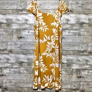 Old Navy Yellow Floral Dress Plus Size 2x